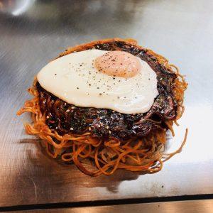 04【広島てっぱんバル②】お好み焼きひろ輝の三次唐麺焼